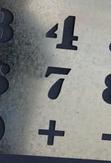 Cijfer sjabloon