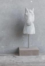 Cementen paard kop
