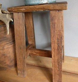 Oud teak houten krukje