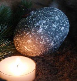 Glazen kerstbal Marble Grey