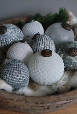 Glazen kerstbal Marble White