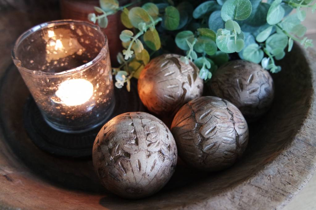 Decoratieve houten bal