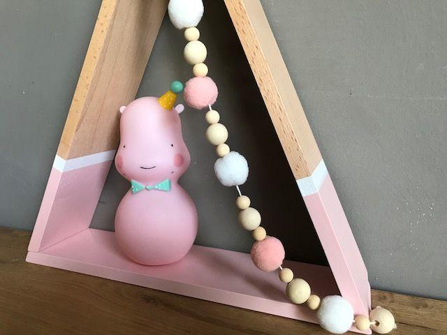 Petit Monkey Tipi wandkastje BABY PINK