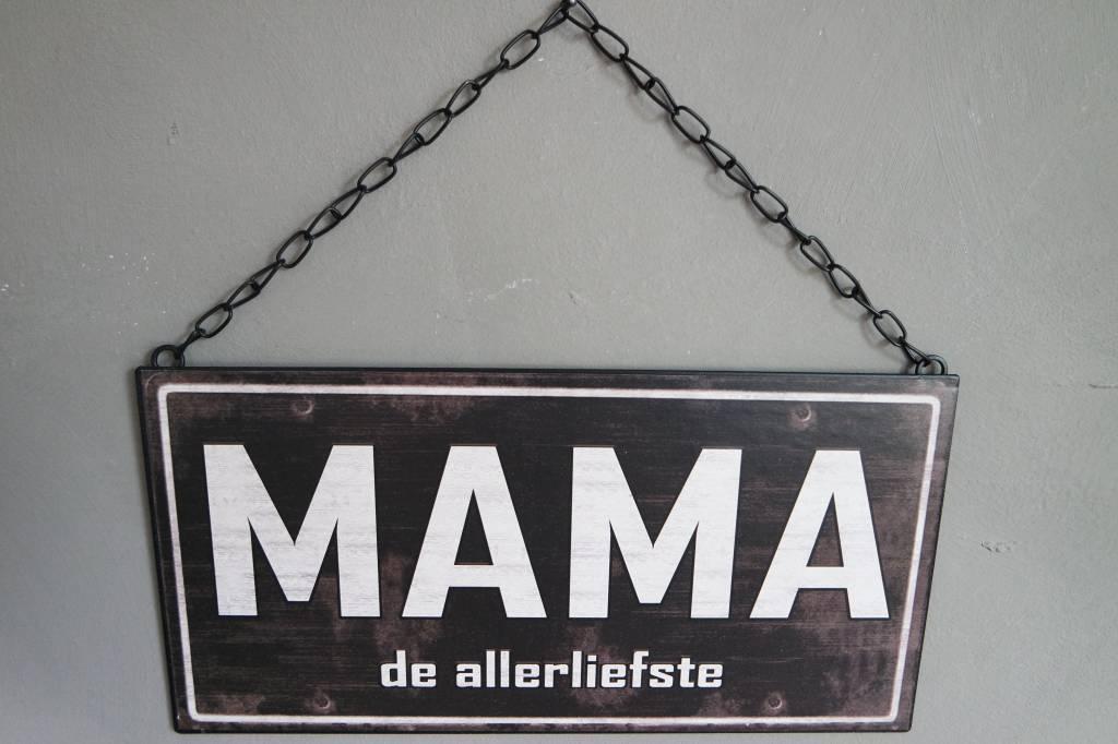 Metalen tekstbord MAMA