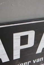 Metalen tekstbord PAPA
