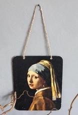 """Metalen hanger """"meisje met de parel"""""""