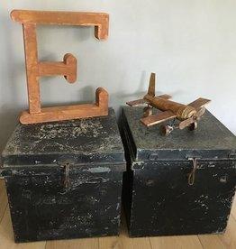 Metalen kist VINTAGE