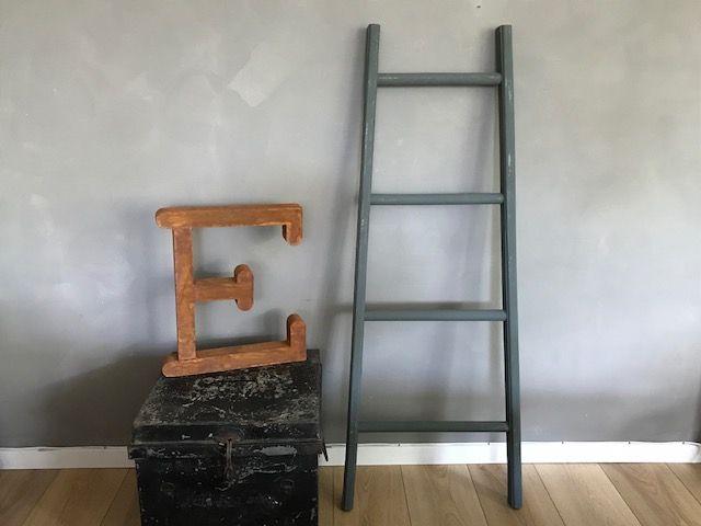 Decoratieve ladder groen