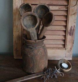 Oude houten lepel