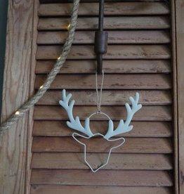 Metalen kersthanger hert