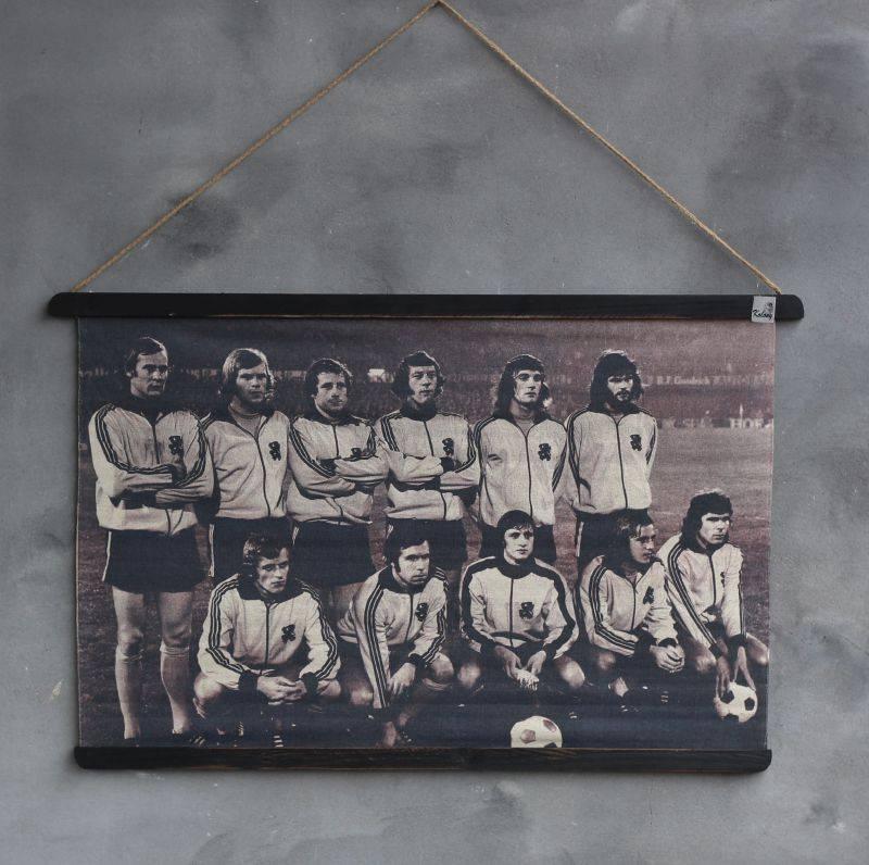 Fotokaart Nederlands elftal 1974 60x90cm