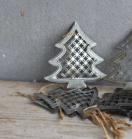 Metalen kerstboompjes
