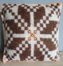 JGhomedeco Kussen wollen deken bruin/groen