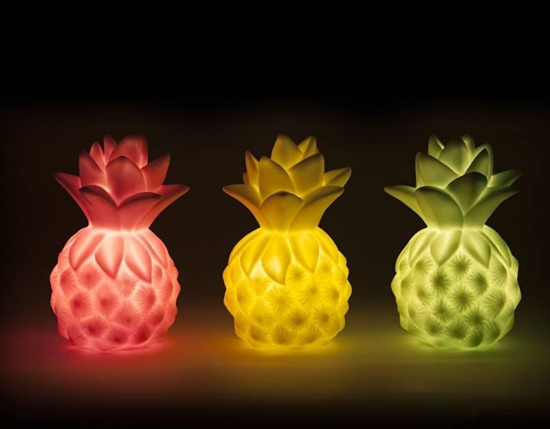 Petit Monkey Nachtlampje pineapple mint groen
