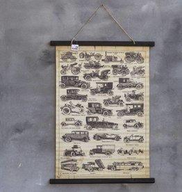 Schoolkaart oldtimers