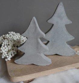 Cementen kerstboom set