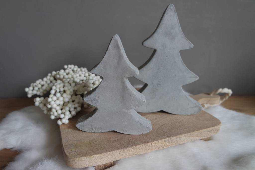 Cementen kerstboom set