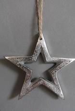 Hanger ster zilver