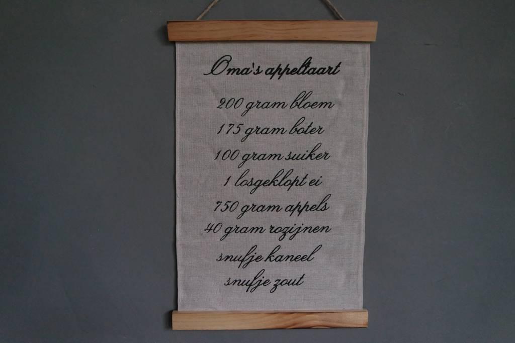 Wandkaart Oma's appeltaart