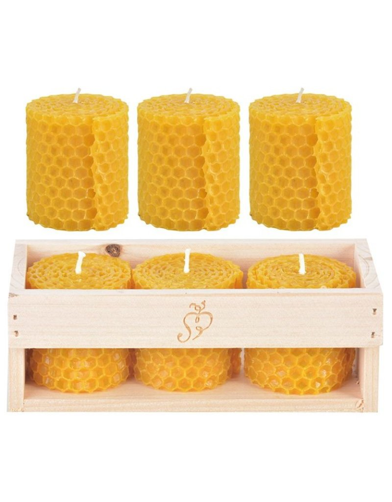 Kaars bijenwas Set van 3