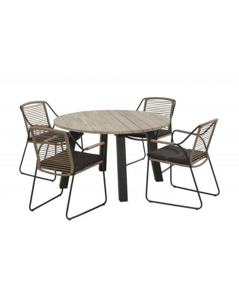 4 Seasons Outdoor Tuinmeubelen 5-Delige set Scandic met Derby tafel