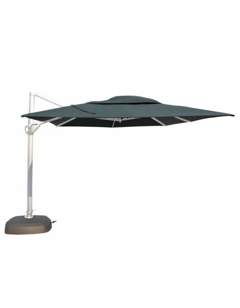 4 Seasons Outdoor Tuinmeubelen Zweefparasol Hacienda 300x400 cm Charcoal-White