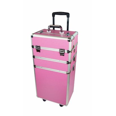 Mega Beauty Shop® Aluminium trolley Roze
