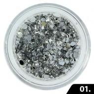 Mega Beauty Shop® Nailart Glas Steentjes 2 mm (nr. 01)