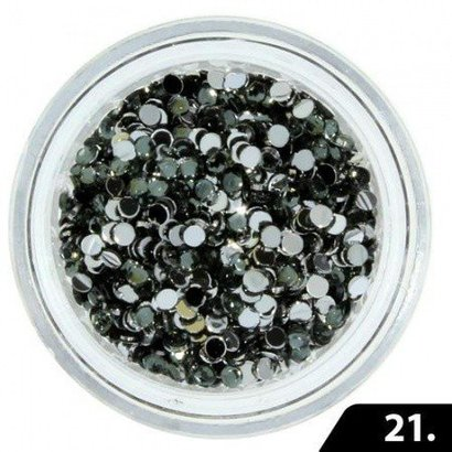 Merkloos Nailart Glas Steentjes 1,5 mm
