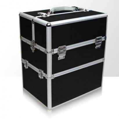 Mega Beauty Shop® Koffer groot Zwart Glad