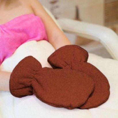 Mega Beauty Shop® Badstof handschoenen Bruin