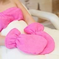 Mega Beauty Shop® Badstof handschoenen Donker Roze