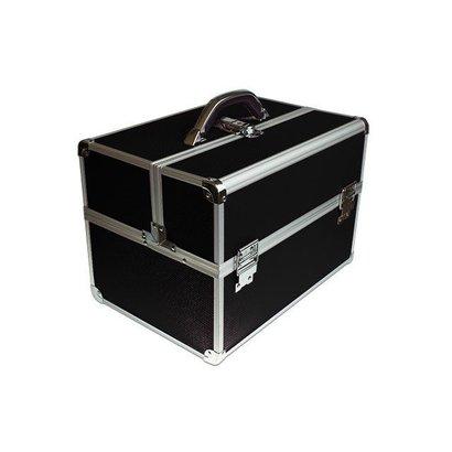 Merkloos Aluminium Koffer Zwart