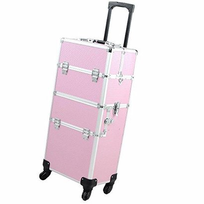 Mega Beauty Shop Aluminium Trolley 3 in1  Roze