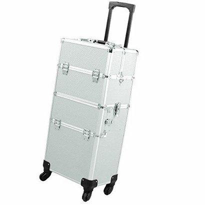 Mega Beauty Shop® Aluminium Trolley 2 in1  Zilver