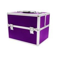 Aluminium luxe koffer - paars