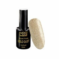 Mega Beauty Shop® Uv Quick Finish  gel 10ml zonder plaklaag (gold dust effect)