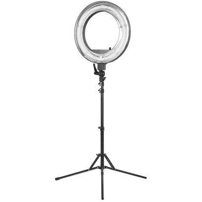 """Merkloos Ring  lamp + statief 55Watt 18""""/zwart TL"""