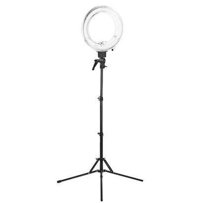 """Merkloos ACTIE! Ring lamp + statief 35Watt 12"""" /wit TL"""