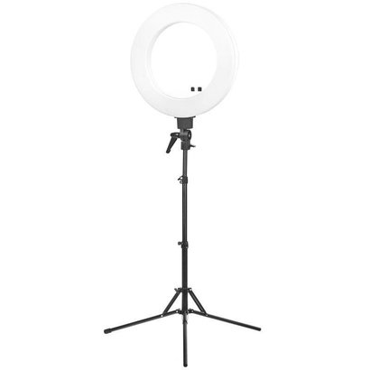 """Merkloos ACTIE! Ring  lamp + statief 48Watt 18"""" /wit LED"""