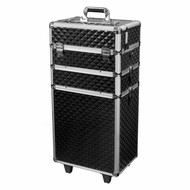 Mega Beauty Shop® Aluminium trolley Zwart  3D