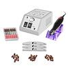 Merkloos Nagelfrees MBS 2000 Zilver + 3 MBS® trapeze vijlen, bitsetje en 30 schuurrolletjes