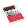 Merkloos Nagelfrees zilver + 3 MBS® trapeze vijlen, klein bitsets, Freesset 30-delig en 150 schuurrolletjes