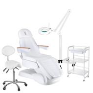 Mega Beauty Shop® 13. Behandel/pedicure starter set WIT met GRATIS behandelstoelhoes.