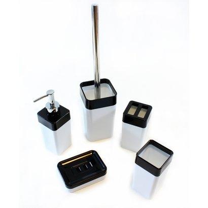 Merkloos Badkameraccessoires set vijfdelig - badkamer accessoires - volledige badkamerset