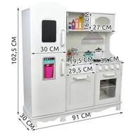 Mega Beauty Shop® Houten Kinderkeuken - Grote houten Keukenset - Kinder Speelgoed Keuken - Compleet - Copy