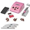 Mega Beauty Shop® Nagelfrees JD500  35Watt -Roze + 3 trapeze vijlen, bitsetje en 30 schuurrolletjes  MBS®