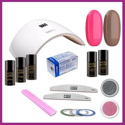 Mega Beauty Shop® Gellak startpakket met SUN9 lamp MBS® (1)