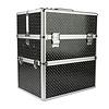 Mega Beauty Shop® Koffer groot Zwart met zilveren harten
