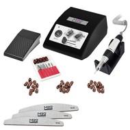 Mega Beauty Shop® Nagelfrees JD500 35Watt Zwart + 3 trapeze vijlen, bitsetje en 30 schuurrolletjes MBS®